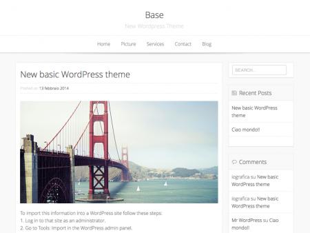 base-wp-clean-minimalist-woocommerce-theme